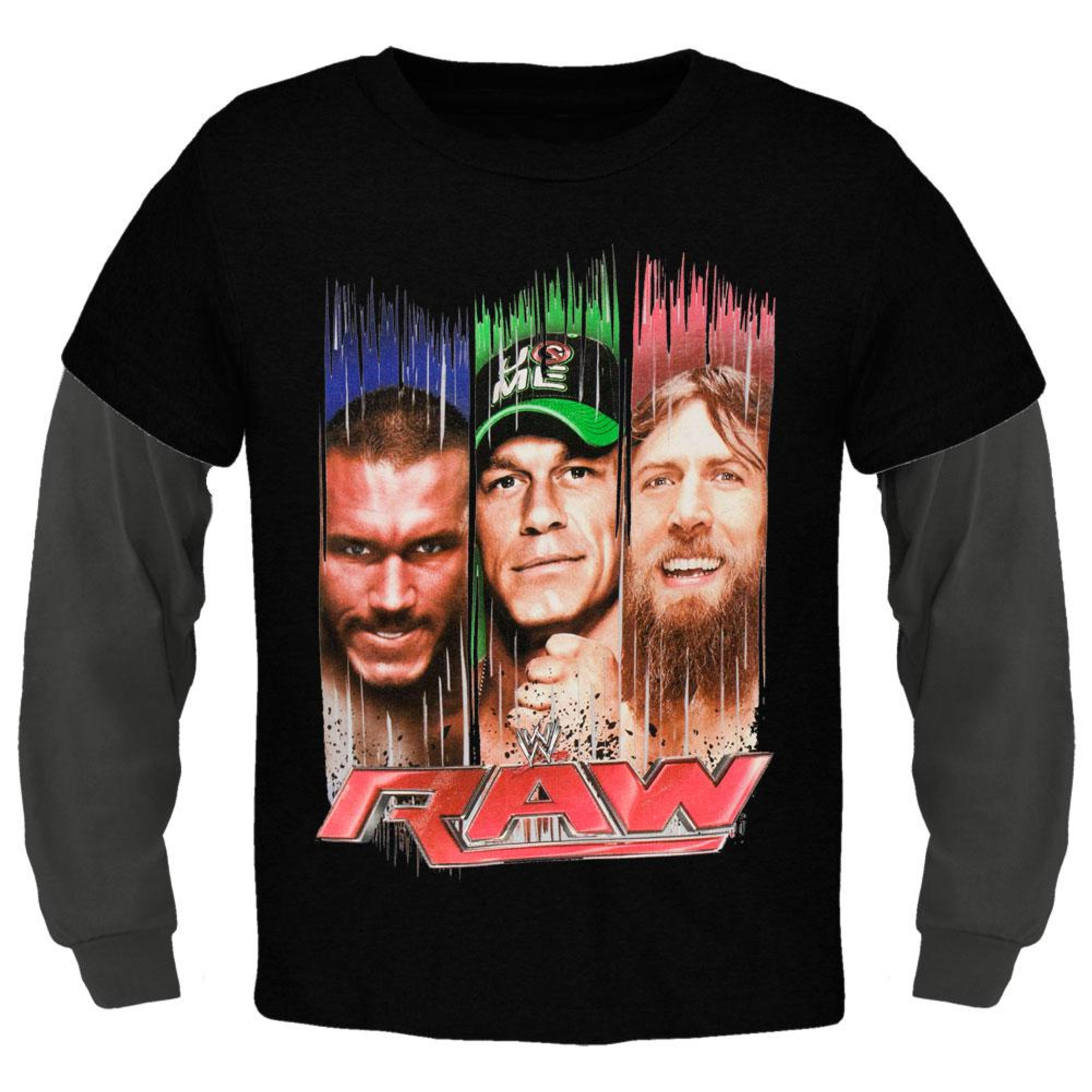 WWE - Paint Streaked Faces 2fer Juvy Long Sleeve T-Shirt