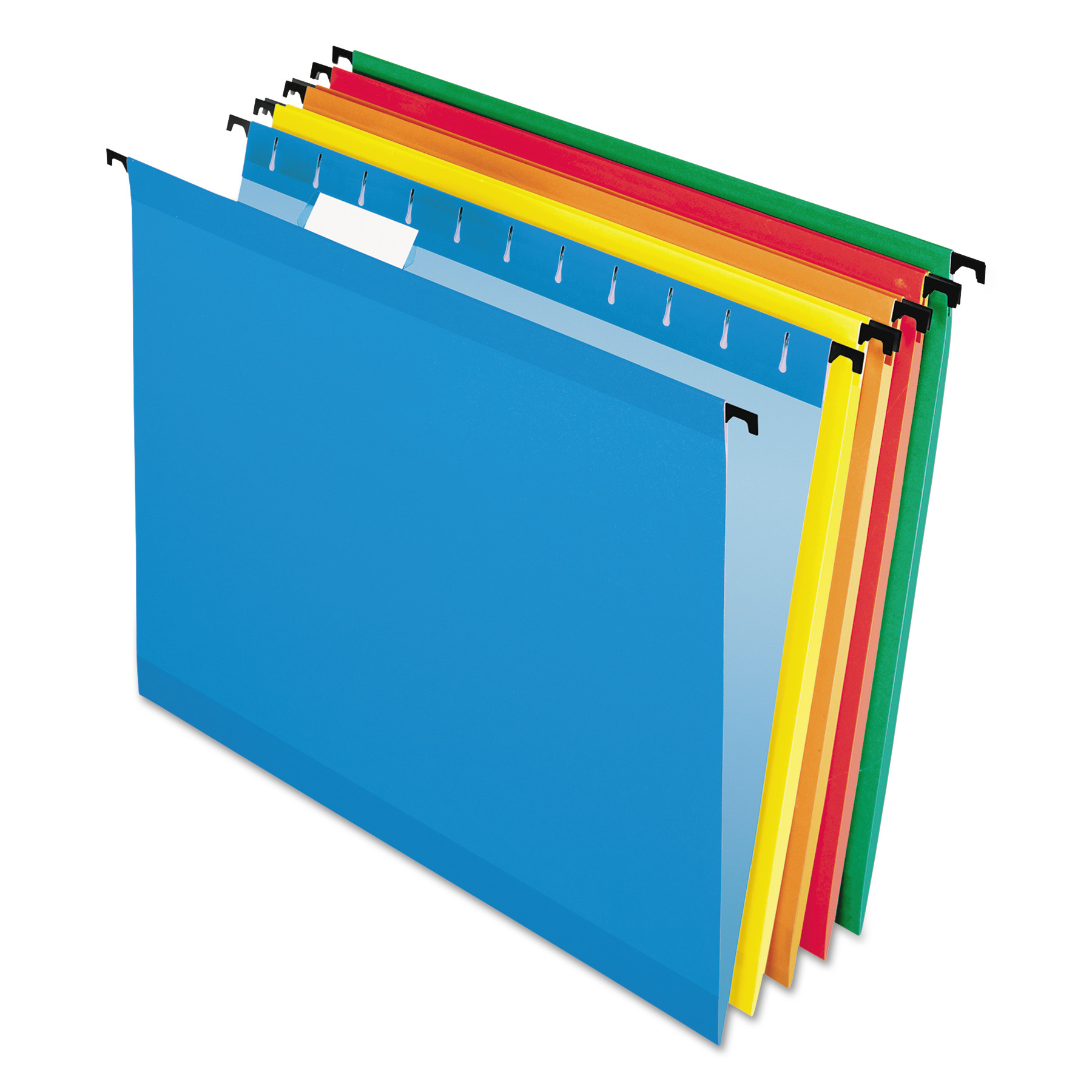 Pendaflex Poly Laminate Hanging Folders, Letter, 1/5 Tab, Assorted, 20/Box -PFX615215ASST