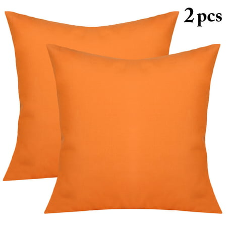 2Pcs Decorative Solid Color Throw Pillow Simple Square Covers Cushion Case Indoor Living Room Outdoor Garden Shell Pillow Case for Car Sofa Bed Couch