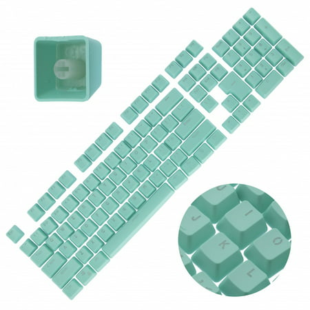 - Backlit Double Shot Color Keycaps Cherry MX Mechanical Keyboard Themes Teal 104