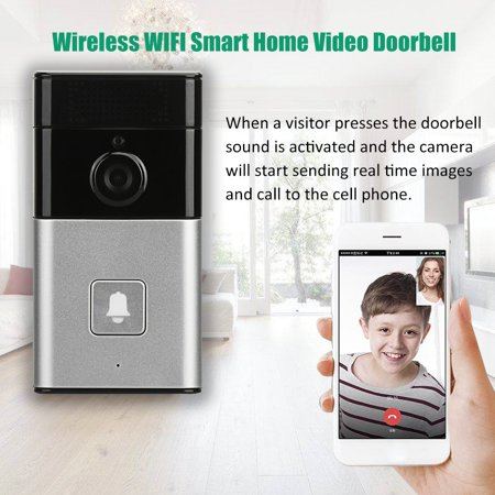 Wireless BT WIFI Smart HD Video Waterproof Doorbell Camera Phone Ring Security Video Door Visual Recording Low Power Consumption Remote Home Monitoring Night