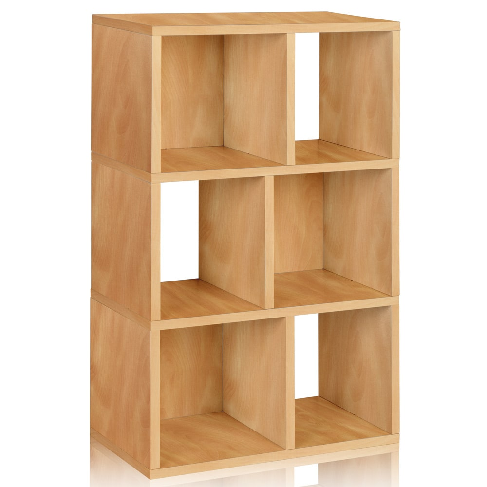 Way Basics Handmade Laguna Eco Friendly 3-Shelf Bookcase Cubby Storage Shelf LIFETIME WARRANTY (made from sustainable no