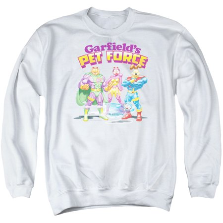 Garfield Newspaper Comic Cartoon Character Pet Force Adult Crewneck Sweatshirt
