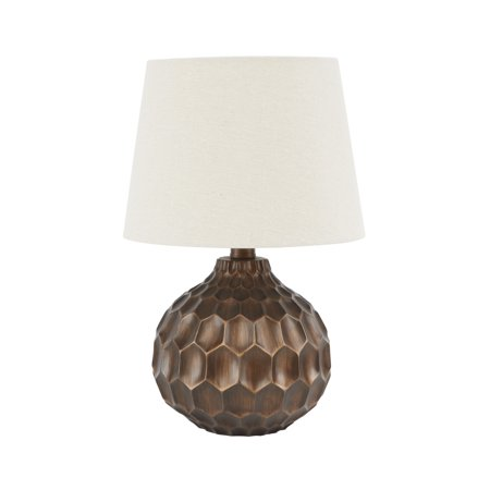 Better homes and gardens faceted table lamp with linen shade