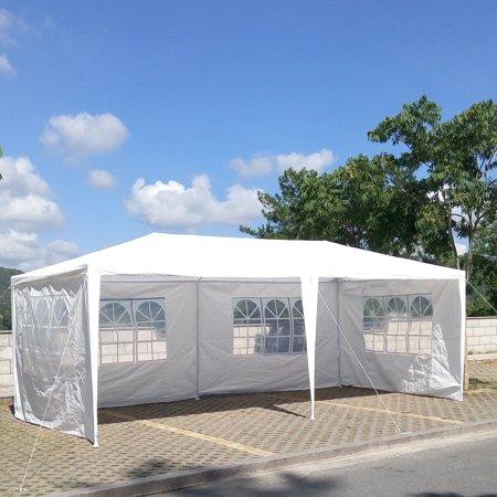 Zimtown 10' x 20' Party Tent Wedding Canopy Gazebo Wedding Tent Pavilion with 4 Side Walls