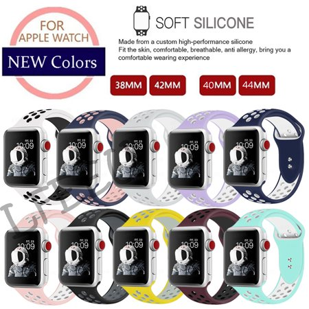 For Nike+Apple Replacement Silicone Sport Band Strap Watch Series 1-4 38mm 40mm 42mm 44mm