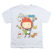 Scribblenauts Men's  Scribble Things Youth T-shirt White