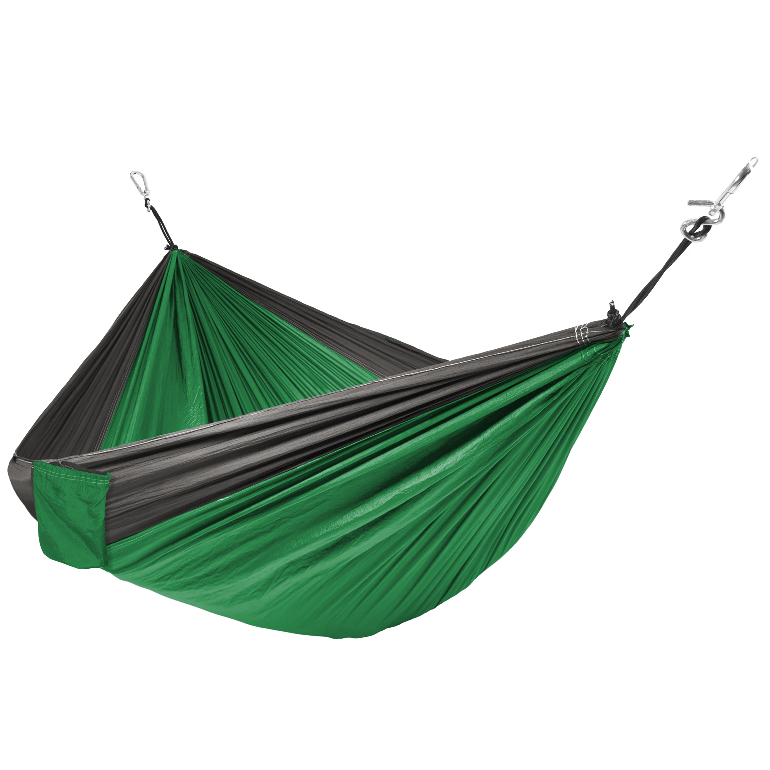 Best Choice Products Portable Nylon Parachute Hammock w/ Attached Stuff Sack- Green