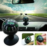 AUTCARIBLE Car Outdoor Climbing Camping Compass Vehicle Suction Cup Type Compass Ball
