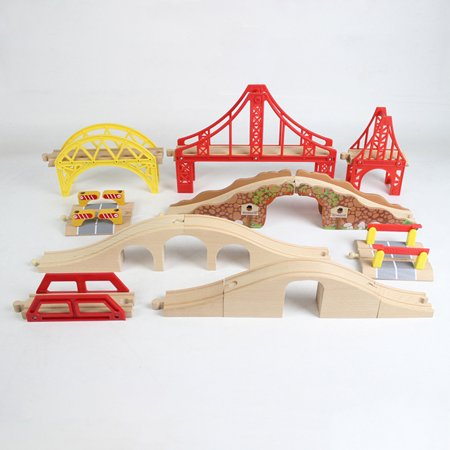 DIY Wooden Track Tools Bridge Train Rail Track Accessories Suitable for Thomas Kids Educational Toys - image 3 of 8