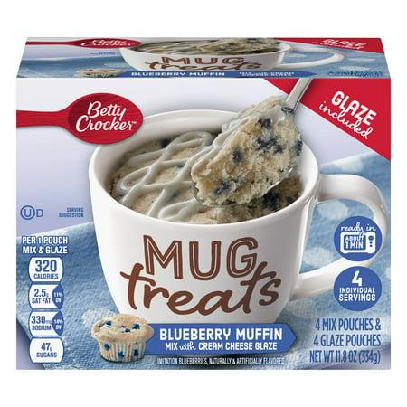 (6 Pack) Betty Crocker Mug Treats Blueberry - Strawberry Shortcake Blueberry Muffin