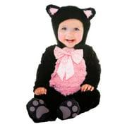 Goodmark Infant Girls Kitty Cat Cutie Costume Plush Black Jumper