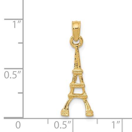 14K Yellow Gold Eiffel Tower Pendant - image 1 of 2
