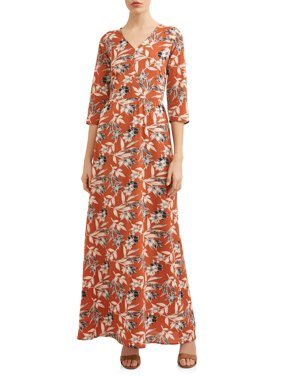 fcd016cd46a4 Product Image Women s Elbow Sleeve Floral Maxi Dress