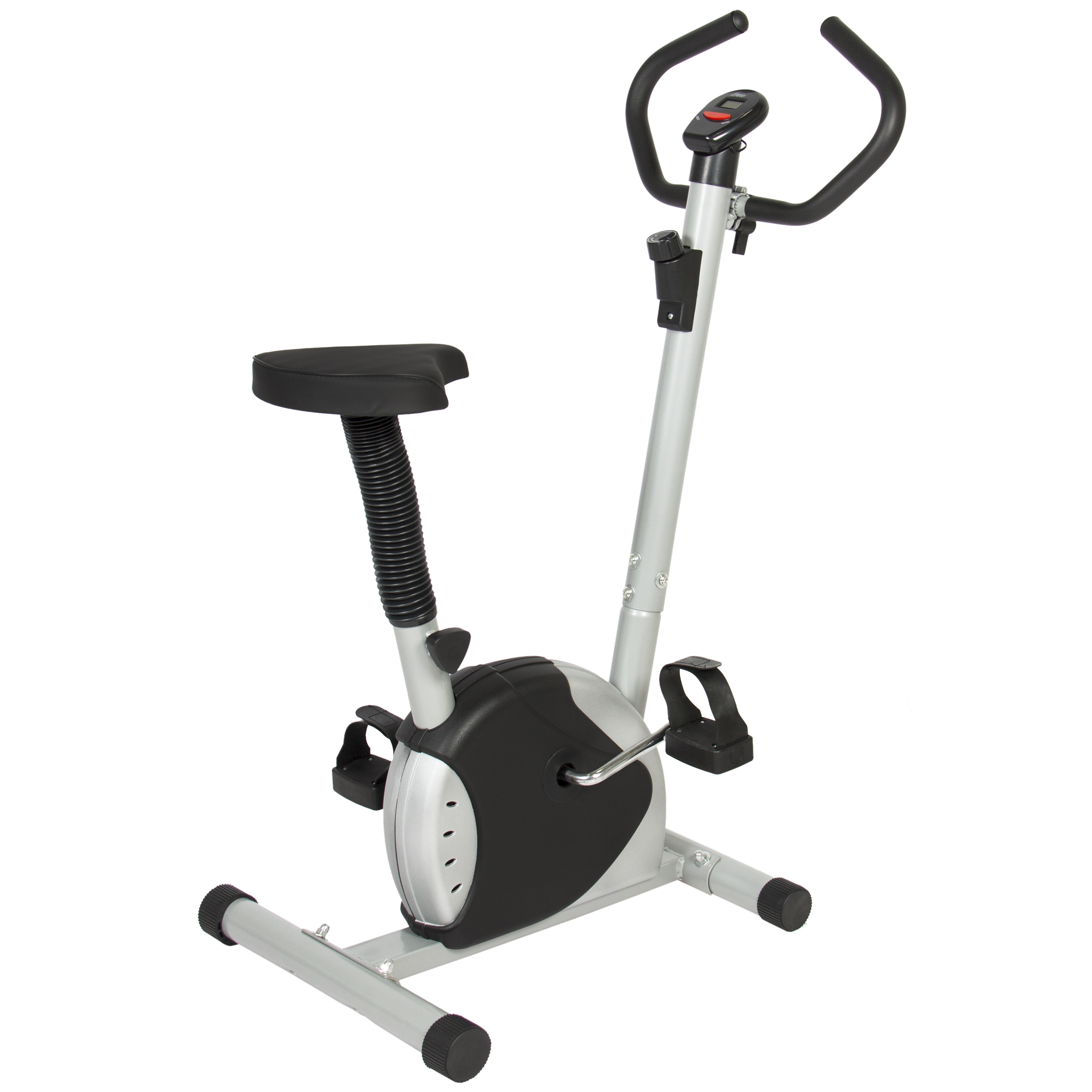 Best Choice Products Adjustable Exercise Bicycle Machine w  Resistance Adjustment Black Silver by Best Choice Products