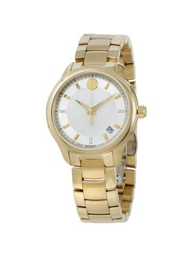 Movado Bellina Silver Dial Yellow Gold Stainless Steel Ladies Watch 0606980