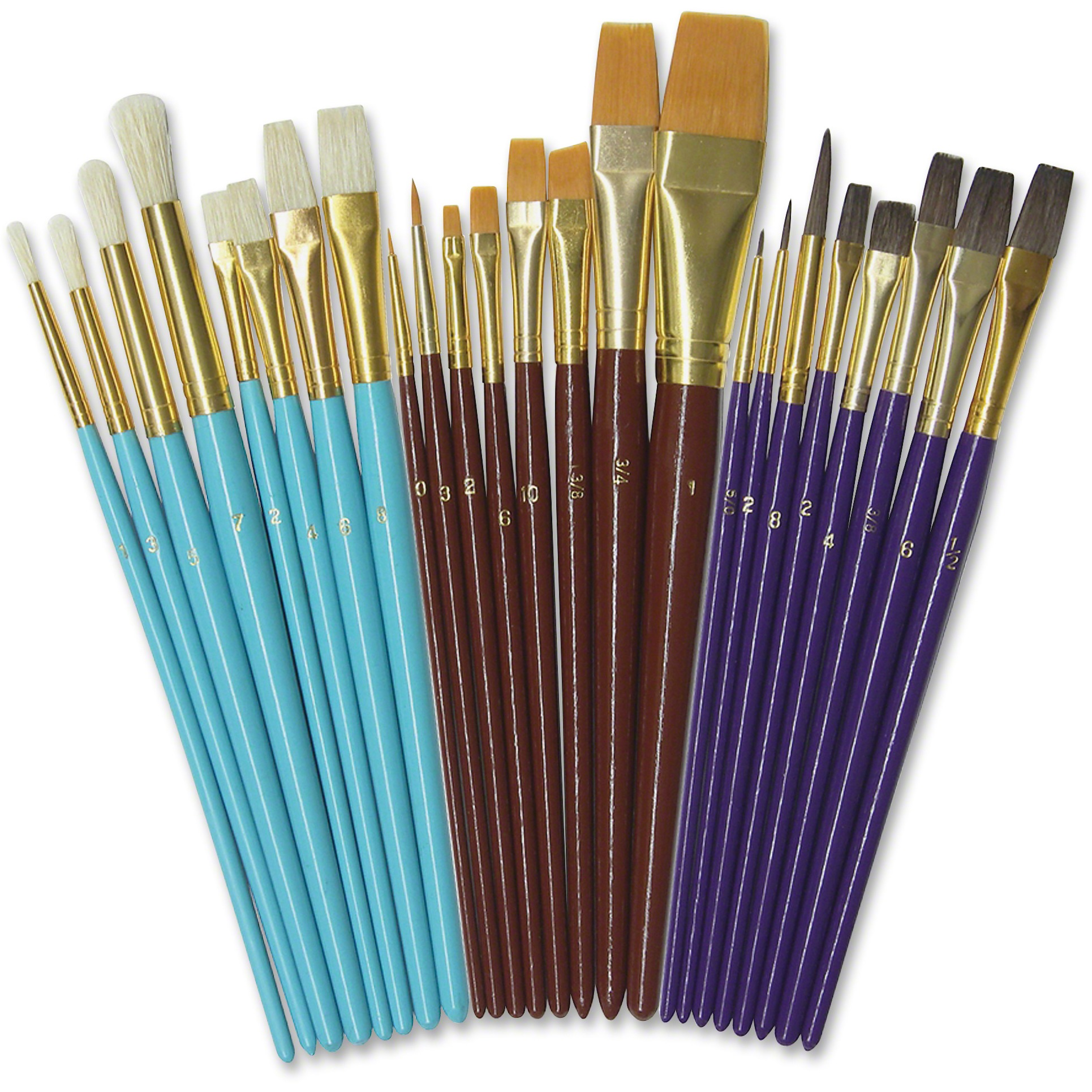 Creativity Street Deluxe Brush Assortment, Assorted, 24 / Set (Quantity)