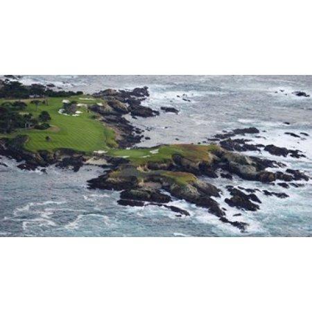 Golf course on an island Pebble Beach Golf Links Pebble Beach Monterey County California USA Poster Print