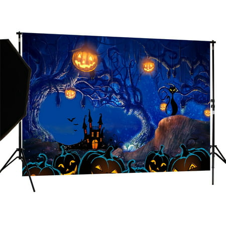 GreenDecor Polyster 7X5ft Halloween Photography Backdrop Photo Background Studio Prop