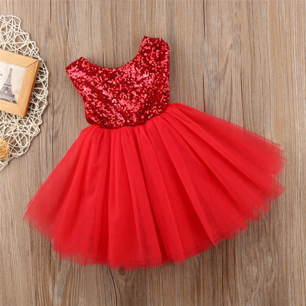 1639094f8fb49 Baby Girls Bridesmaid Dress Baby Flower Kids Party Prom Wedding Dresses  Princess Red 12-18 Months