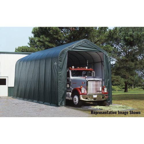 16' x 44' x 16' Peak Style Shelter, Green by ShelterLogic