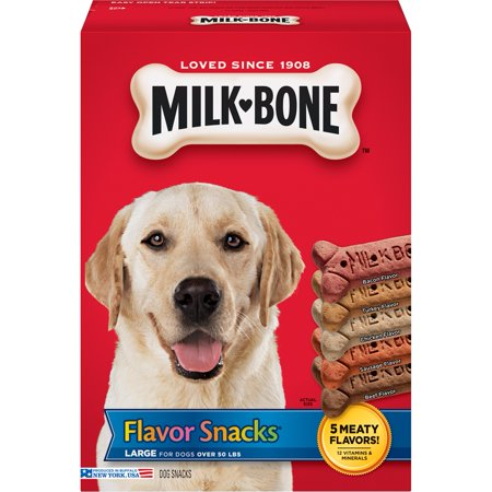 †When fed daily, Milk-Bone ® Brushing Chews ® are as effective as brushing a dog's teeth twice a week based on the reduction of tartar build-up.