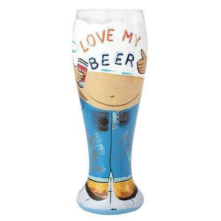 - Lolita Hand Painted Pilsner Glass, Beer Belly, Lolita beer belly pilsner glass By Santa Barbara Design Studio