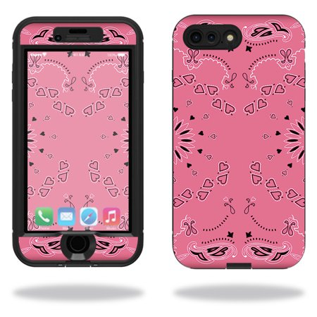 MightySkins Protective Vinyl Skin Decal for Lifeproof Nuud iPhone 7 Plus sticker wrap cover sticker skins Pink Bandana