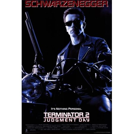 Terminator Wall - Pop Culture Graphics MOVCF5396 Terminator 2 - Judgment Day Movie Poster Print, 27 x 40