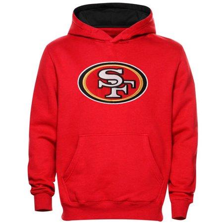 - San Francisco 49ers Preschool Fan Gear Primary Logo Pullover Hoodie - Scarlet