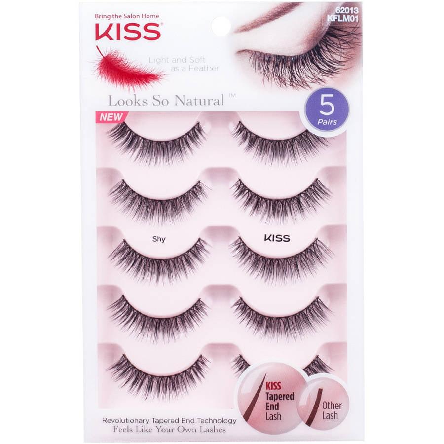 KISS Looks So Natural Shy False Eyelashes, 5 pr - Walmart.com