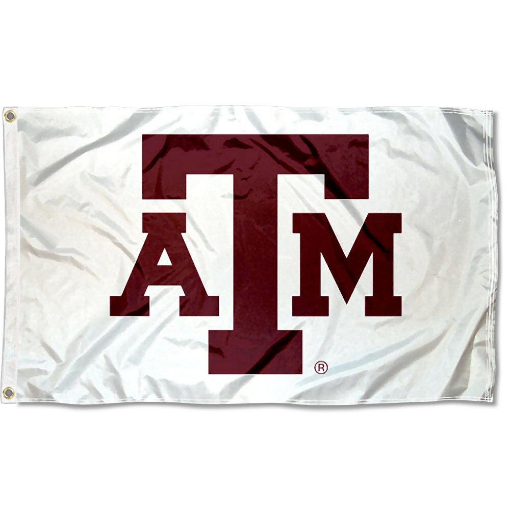 Texas A&M Aggies White 3' x 5' Pole Flag