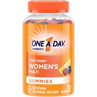 One A Day Women's VitaCraves Multivitamin Gummies, Supplement with Vitamins A, C, E, B6, B12, Calcium, and Vitamin D, 70 ct.