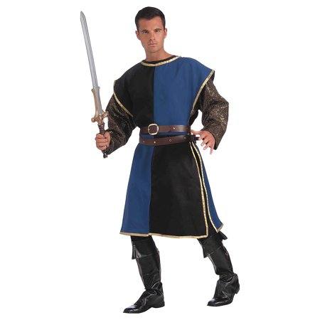 Fun Express - Medieval Tabard Blue Black for Halloween - Apparel Accessories - Costume Accessories - Costume Kits - Halloween - 1 Piece