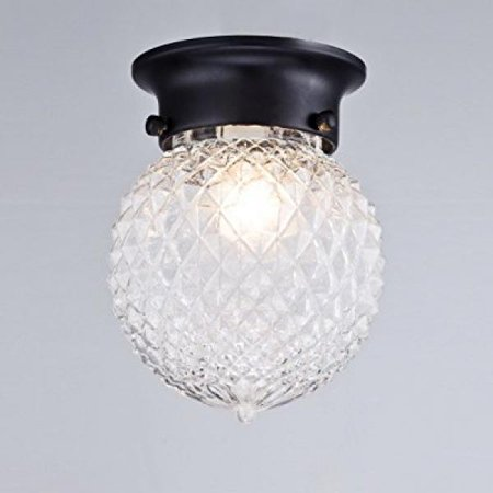 Truelite Antique Style Plantation Collection Flush Mount Ceiling Light Prismatic Gl Globe Fixtures