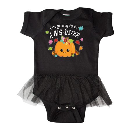 I'm Going to be a Big Sister- cute Halloween pumpkin Infant Tutu Bodysuit - Halloween Black Bodysuits
