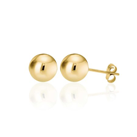 14K Yellow Gold Filled Round Ball Stud Earrings Pushback 9mm 14k Gold Fill Earrings