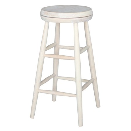 Jonathan Swivel Scooped Seat 30u0022 Stool - Unfinished - International Concepts