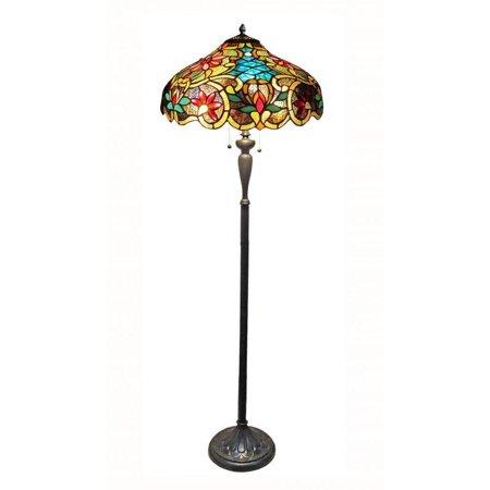 - Chloe  Tiffany Style Victorian Design 2-light Dark Antique Bronze Floor Lamp