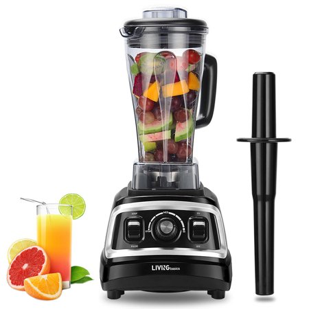 LIVINGBasics Blender for Shakes and Smoothies, Powerful 1500W, Perfect for Hot Soups, Nuts, Coffee Bean, Juice, Baby Food, 72 Ounces BPA-Free, Variable Speed Control - image 1 of 8