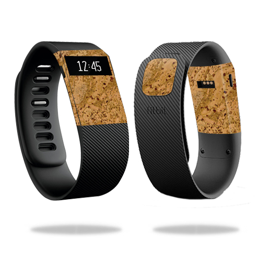 Skin Decal Wrap for Fitbit Charge cover skins sticker watch Cork