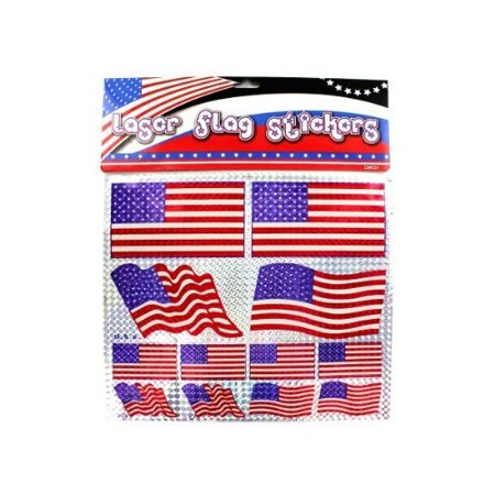 96 pack of american flag laser stickers