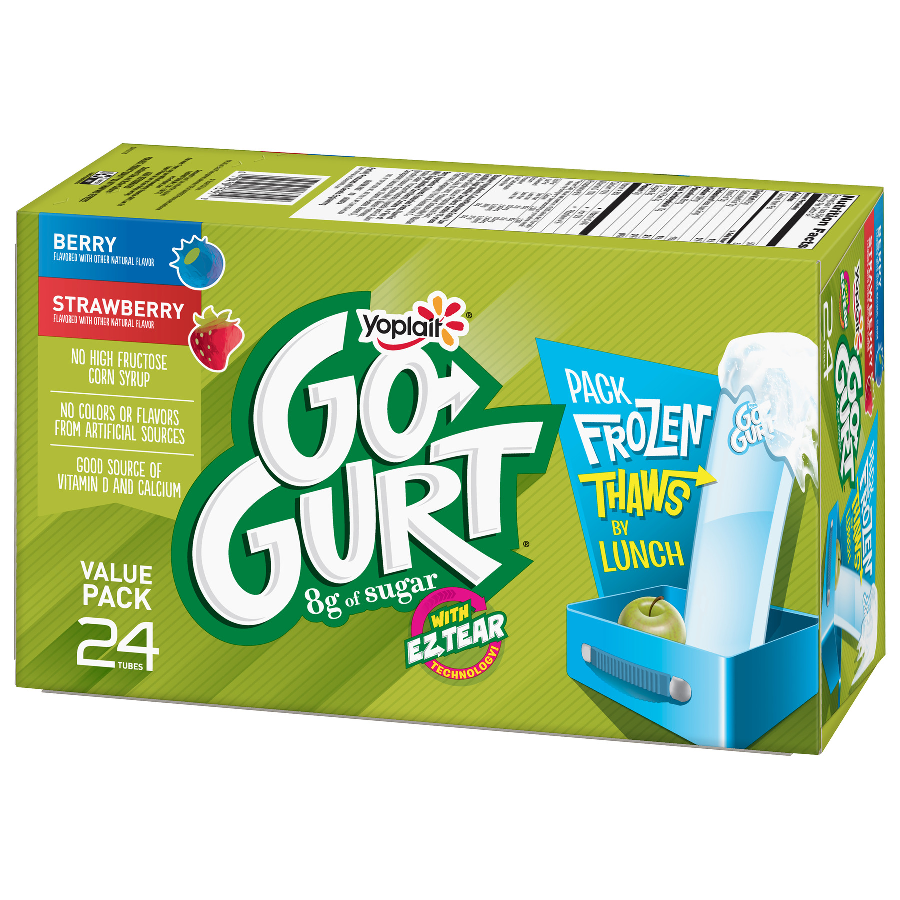 Yoplait Go-Gurt Kids Yogurt, Strawberry/Berry 24ct. - Walmart.com ...