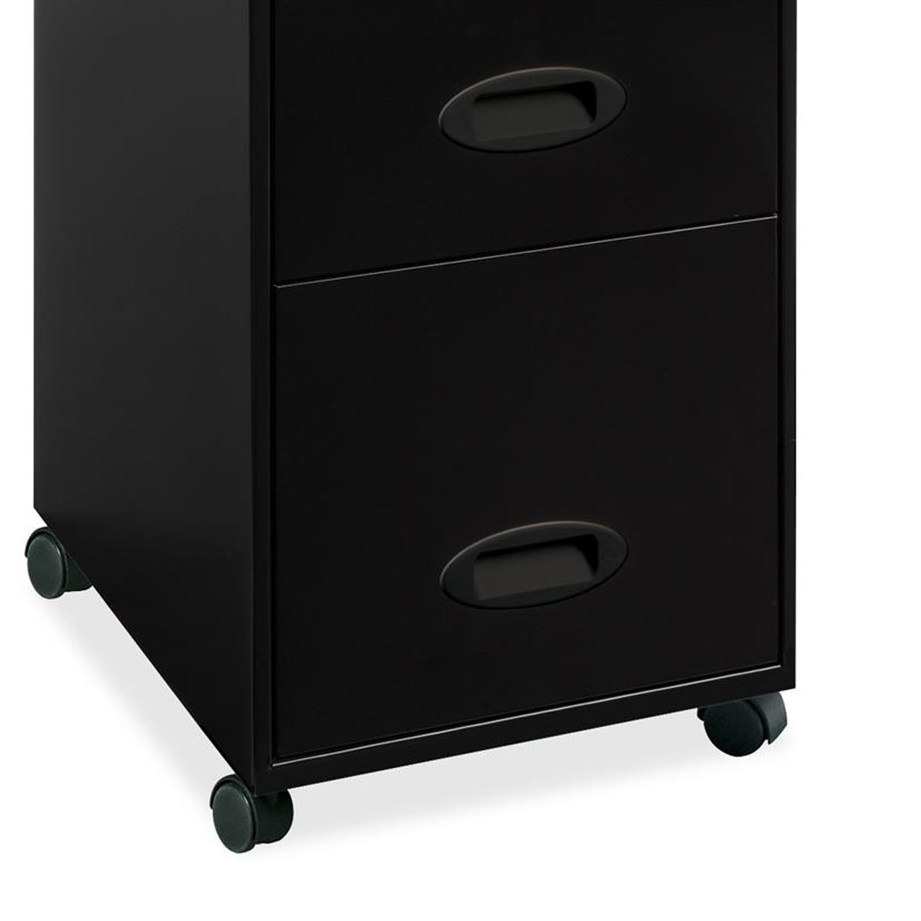 Lorell 3 Drawers Vertical Metal Lockable Filing Cabinet, Black