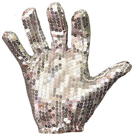 White Sequin Glove Adult Halloween Accessory - Halloween Jackson Nj