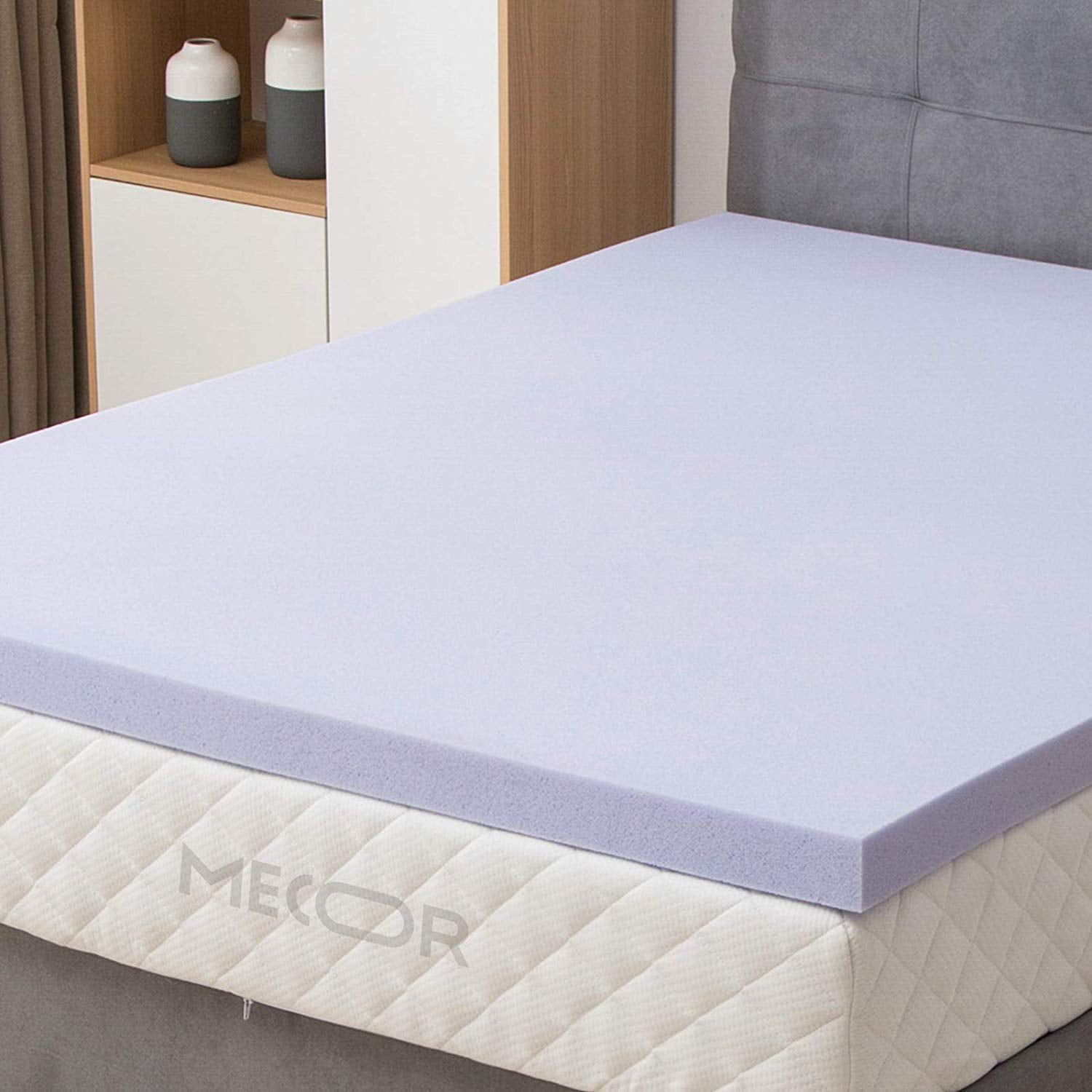 "Mecor 4"" 4 inch Queen Size Gel Infused Memory Foam ..."