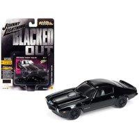 Johnny Lightning 1:64 Scale Blacked Out 1973 Pontiac Firebird Trans Am Diecast Car