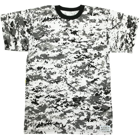 Army Universe - City Digital Camouflage Short Sleeve T-Shirt with ARMY  UNIVERSE Pin - Size 4X-Large (57