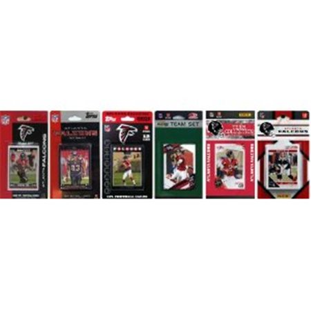 - C & I Collectables FALCONS611TS NFL Atlanta Falcons 6 Different Licensed Trading Card Team Sets