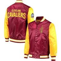 Cleveland Cavaliers Starter Satin Full-Snap Jacket - Wine/Gold